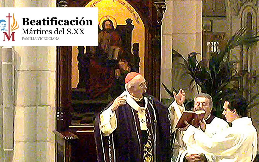 Homilía del cardenal Osoro en la eucaristía de acción de gracias por la beatificación de los mártires vicencianos