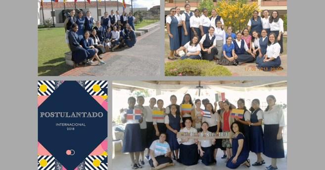 Cantan las postulantes de las provincias latinoamericanas de Hijas de la Caridad