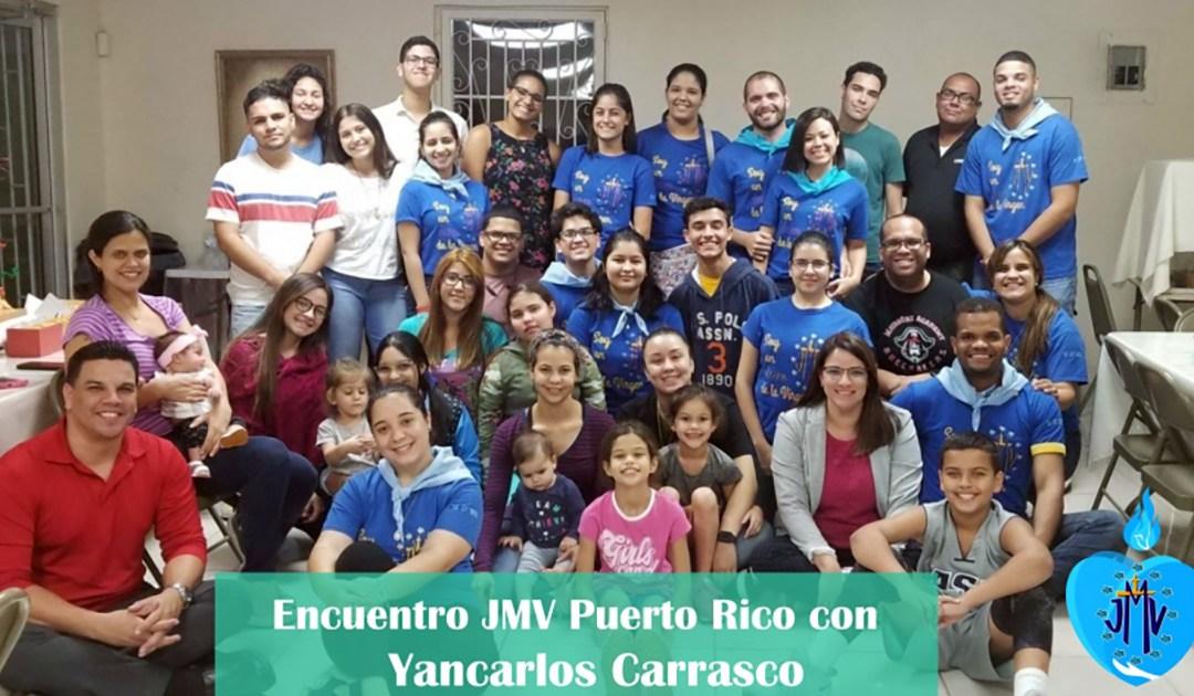 Visita de Yancarlos Carrasco, presidente internacional de JMV, a Puerto Rico