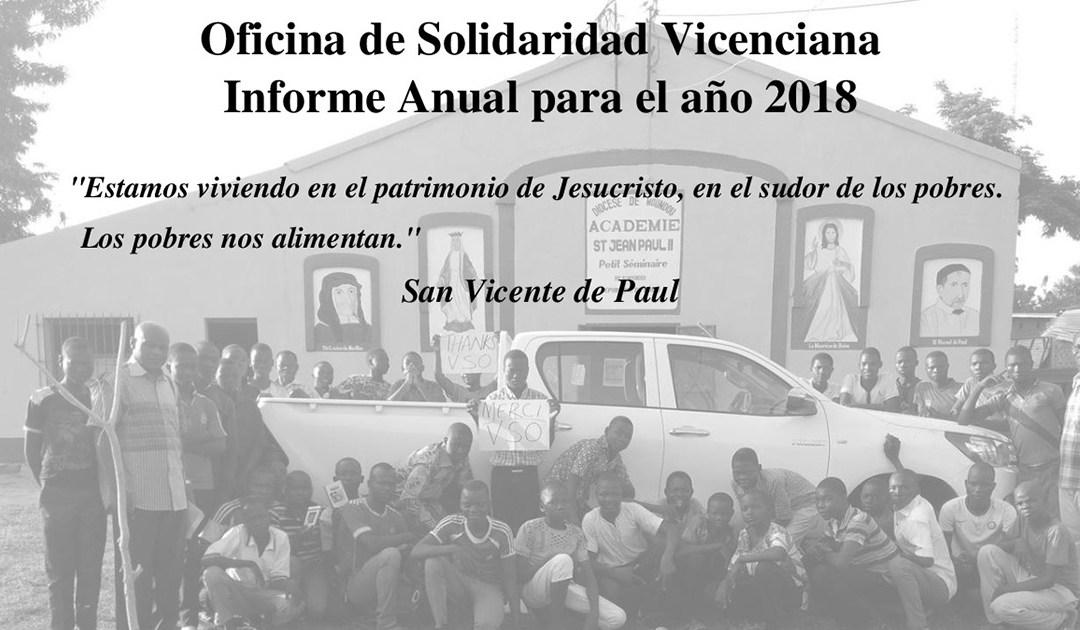 Oficina de Solidaridad Vicenciana – Informe Anual para el año 2018