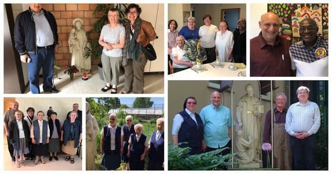 Visitas a la Familia Vicenciana en Francia, Alemania y Bélgica