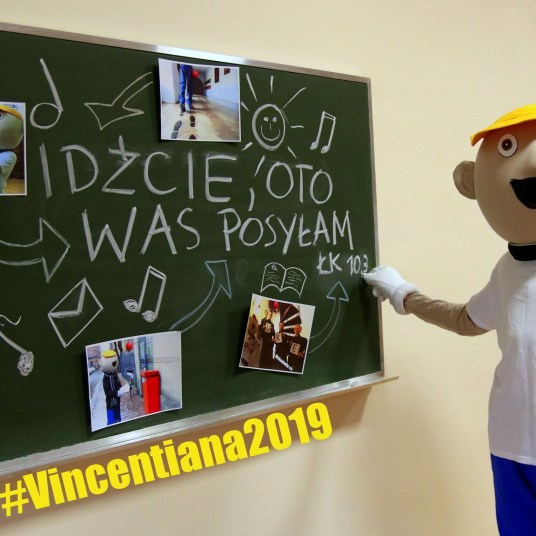 vincentiana festival - vicek - our mascot