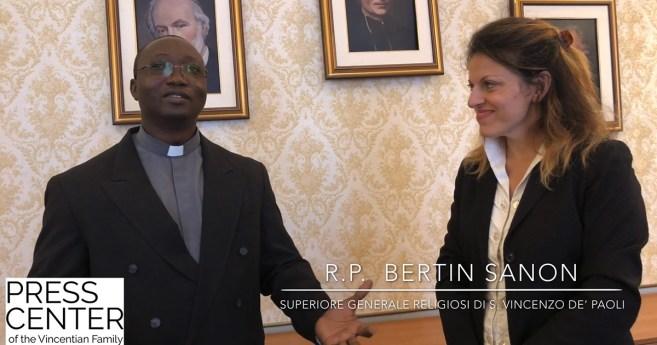 Entrevista al padre Bertin Sanon, Superior General de los Religiosos de San Vicente de Paúl