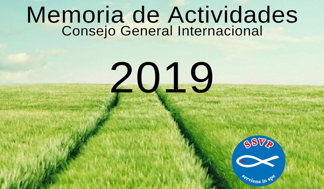 El Consejo General de la SSVP publica el informe de actividades de 2019