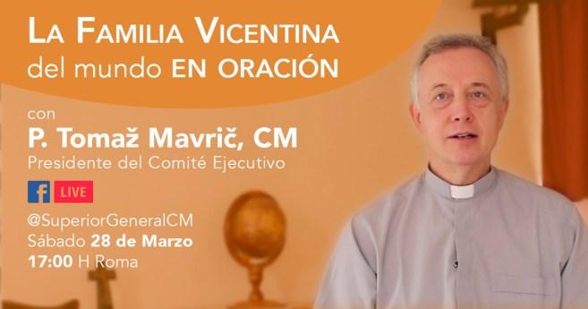 Encuentro de oración por Facebook de la Familia Vicenciana, sábado, 28 de marzo