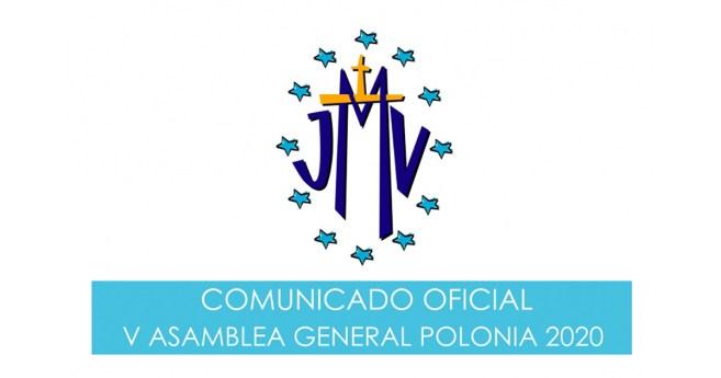 Comunicado Oficial V Asamblea General de Juventud Mariana Vicenciana, Polonia 2020