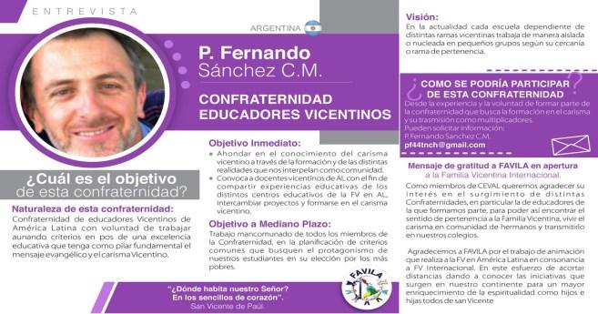 Entrevista a P. Fernando Sánchez, CM, responsable de la Confraternidad de Educadores Vicentinos