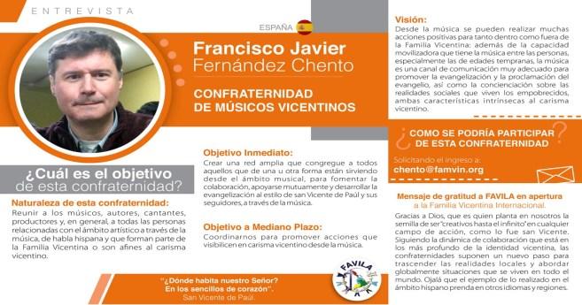 Entrevista a Javier F. Chento, responsable de la Confraternidad de Músicos vicentinos