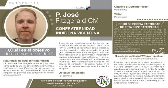Entrevista al P. José Fitzgerald CM, responsable de la Confraternidad Indígena Vicentina