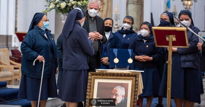 Las Hijas de la Caridad, premiadas por el Arzobispado de Guatemala