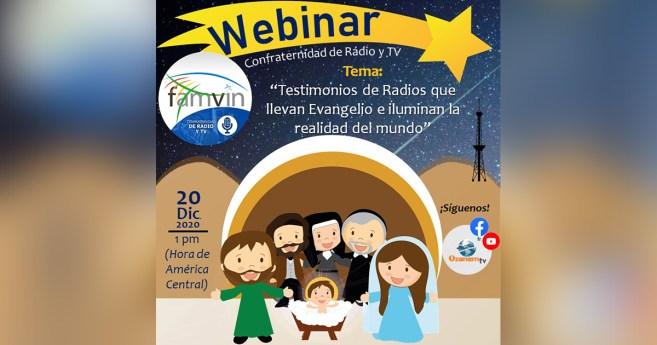 Webinar de la Confraternidad de Televisión y Radios Vicentinas, el 20 de diciembre