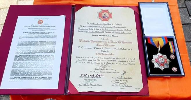 «Aguapanaleros de la noche» recibe condecoración del Congreso de la República de Colombia