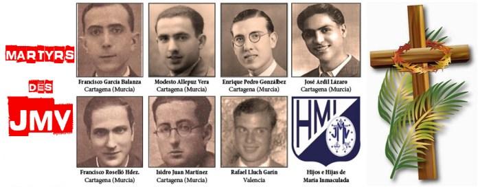 Premiers Bienheureux Martyrs des Jeunesses Mariales Vincentiennes