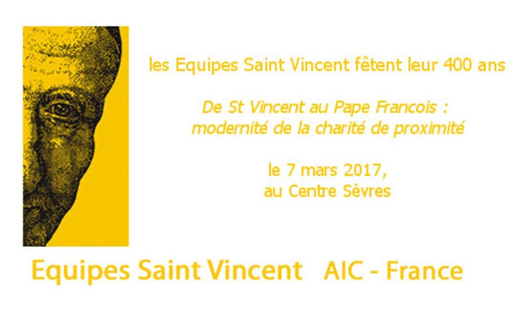 «De St Vincent au Pape François : modernité de la charité de proximité»