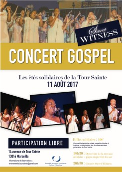 Grand concert Gospel avec Sweet Witness