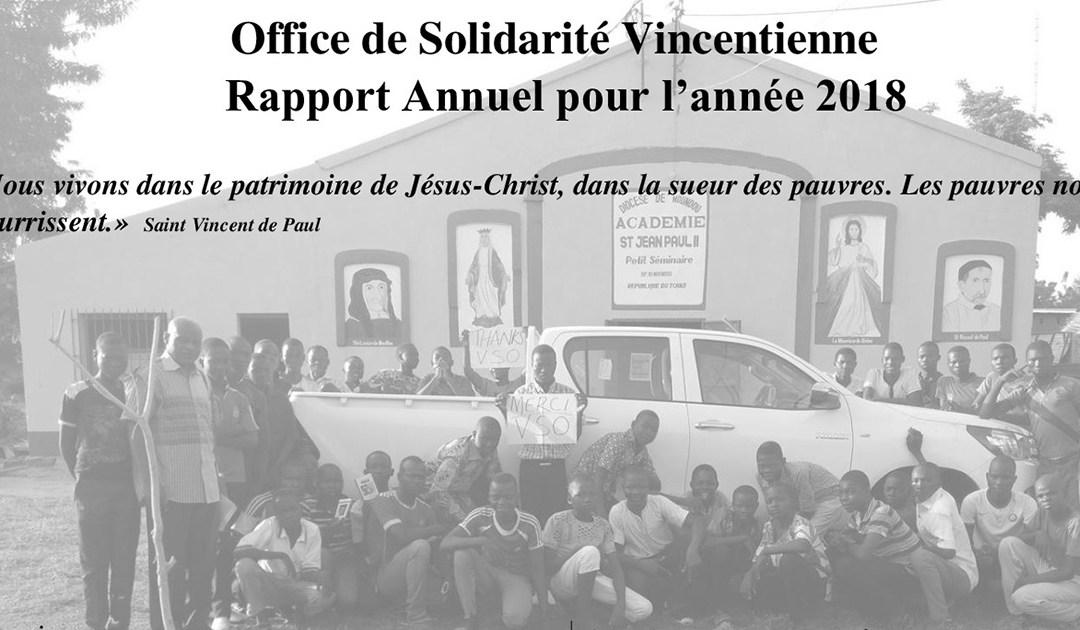 Office de Solidarité Vincentienne – Rapport Annuel pour l'année 2018