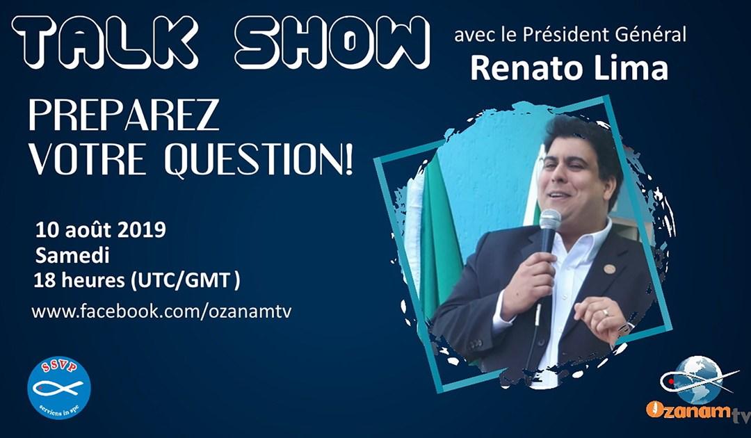 Le Président général de la Société de Saint-Vincent-de-Paul répondra aux questions posées par des Vincentiens du monde entier sur Facebook Live