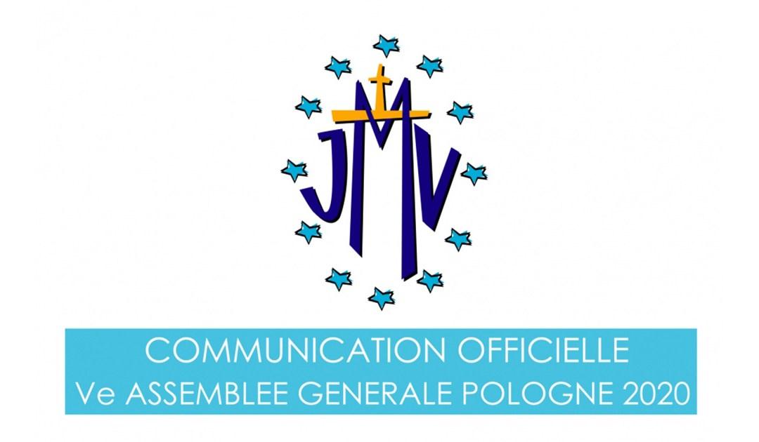Communication Officielle Ve Assemblee Generale de la JMV, Pologne 2020