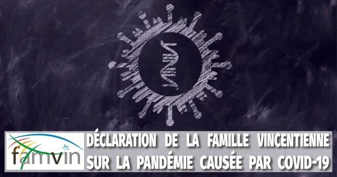 Déclaration de la Famille Vincentienne sur la pandémie causée par COVID-19