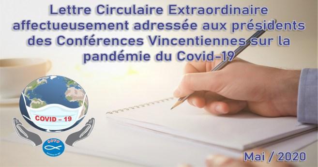 Le Président général de la SSVP publie une lettre extraordinaire sur la pandémie de Covid-19