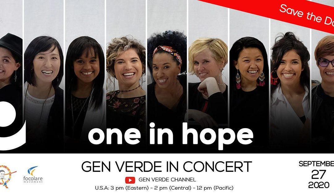 27 settembre: Gen Verde in concerto!