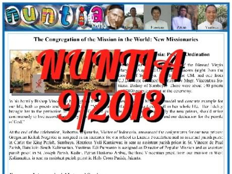 NUNTIA – wrzesień 2013
