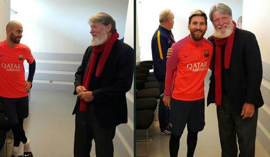Ksiądz Pedro Opeka spotkał Lionela Messiego i Javiera Mascherano