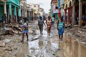 Furacão Matthew no Haiti. Foto: Minustah