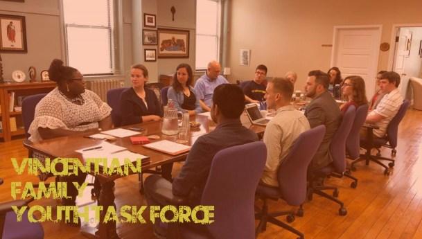 Força-tarefa da juventude se reúne no Escritório da Família Vicentina na Filadélfia