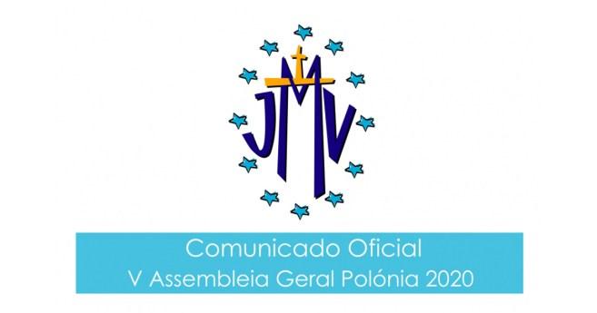 Comunicado Oficial V Assembleia Geral da JMV, Polónia 2020
