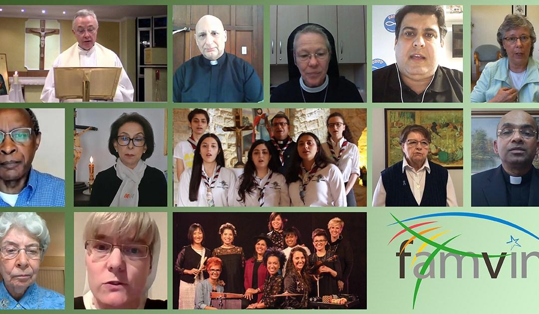 Encontro de oração de toda Família Vicentina do último dia 12 de julho