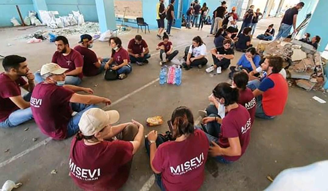 A Família Vicentina está ajudando desde um dia após a explosão em Beirute
