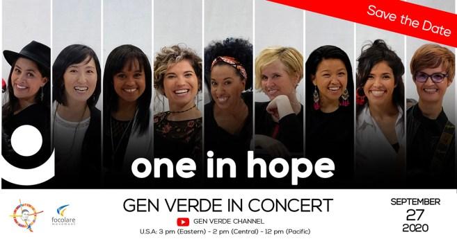 27 de setembro: Gen Verde em concerto!