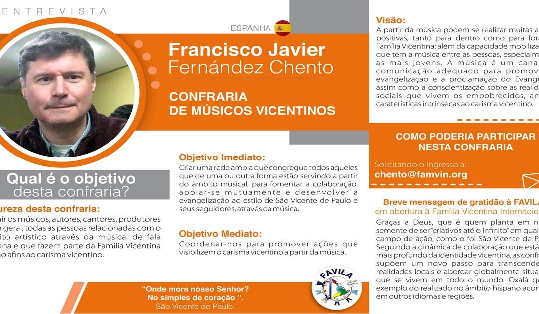 Entrevista com Javier F. Chento, coordenador da Confraria de Músicos vicentinos