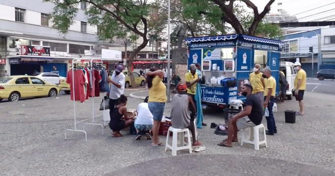 Projeto Banho Solidário Vicentino chega a 250 banhos em pessoas em situação de rua em Juiz de Fora (Brasil)