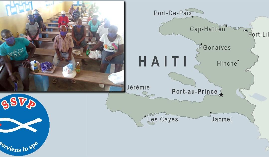 No Haiti, SSVP ajuda 500 famílias em sua luta contra a pandemia