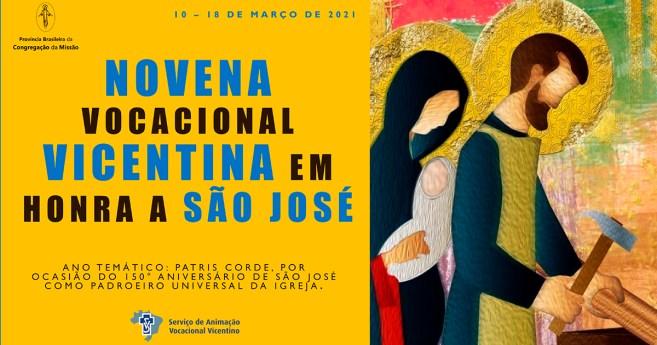 Novena vocacional vicentina em honra a São José. 3º dia