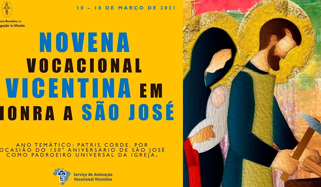 Novena vocacional vicentina em honra a São José. 1º dia