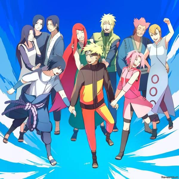 Наруто,Саске, Сакура и их родители - Все вместе - Картинки ...