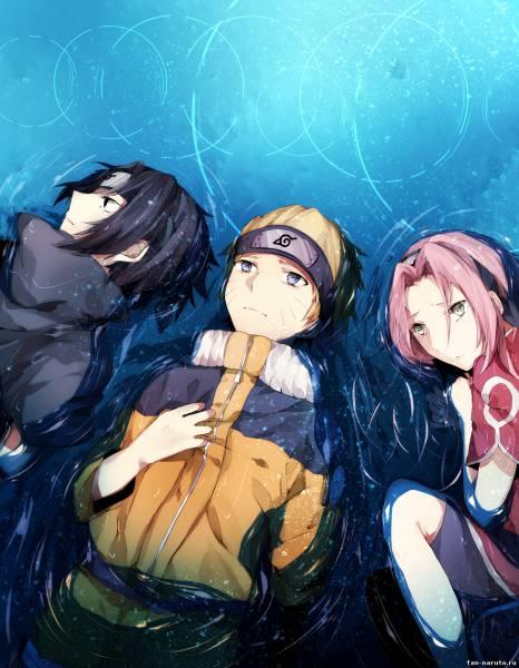 Сакура, Наруто и Саске вместе лежат - №7 (Наруто-Сакура ...
