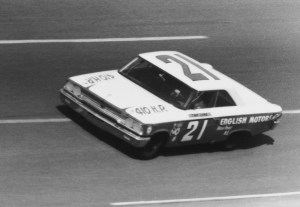 No. 21 car with Tiny Lund behind the wheel in the 1963 Daytona 500.  Photo -  ISC Images and Archives