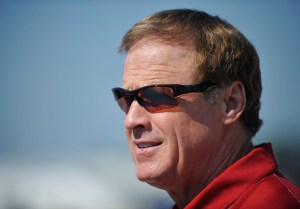 NASCAR broadcaster Rusty Wallace looks on during practice for the NASCAR Nationwide Series Virginia 529 College Savings 250 at Richmond International Raceway on September 7, 2012 in Richmond, Virginia. Photo -  Rainier Ehrhardt/Getty Images