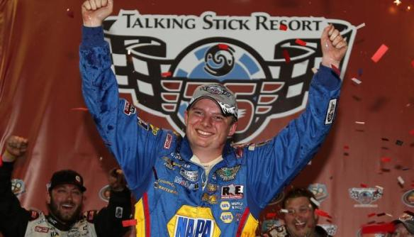Cole Custer wins first K&N Pro Series West  race at Phoenix International Raceway on February 27, 2014  Photo - Todd Warshaw/Getty Images