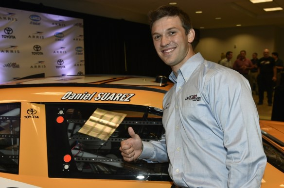 Daniel Suárez will pilot the No. 18 Arris Toyota for Joe Gibbs Racing in the NASCAR Nationwide Series in 2015. Photo - Nigel Kinrade