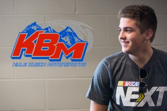 Noah Gragson at 8:40 pm ET on Monday, October 10, 2016. Photo - KBM