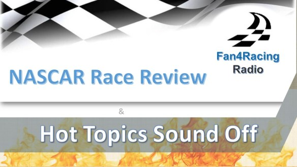 NASCAR Race Review logo for Fan4Racing Radio