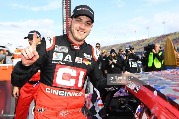 Alex Bowman wins the NASCAR Cup Series race at Auto Club Speedway on March 1, 2020