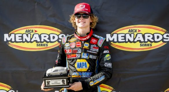 Love and Perkins find victory in the ARCA Menards Series West ENOES/Sunrise Ford Twins at Utah Motorsports Campus on Saturday.