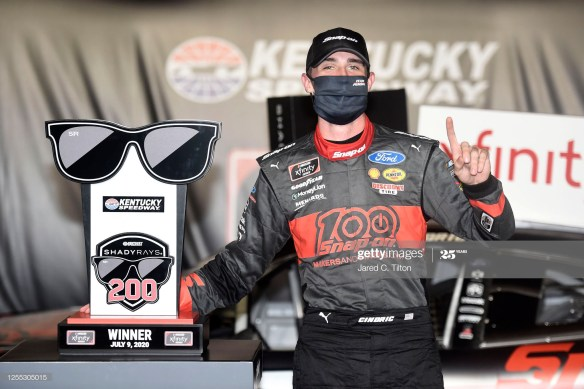 Austin Cindric  earns overtime victory in the NASCAR Xfinity Series Shady Rays 200 at Kentucky Speedway on Thursday night, July 9th.