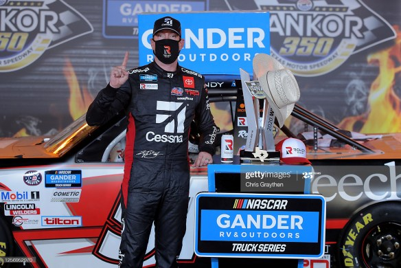Kyle Busch gets another win in the NASCAR Gander RV & Outdoors Truck Series Vankor 350 on Saturday, July 18th at Texas Motor Speedway.
